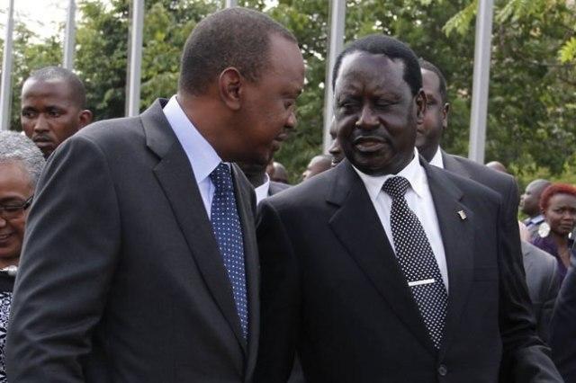 Uhuru Kenyatta Raila Odinga